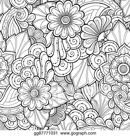 Vector Stock Doodle Seamless Background In Vector With Doodles