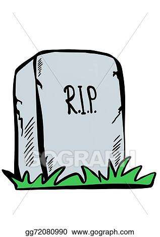 clip art doodle tombstone with rip stock illustration gg72080990 rh gograph com