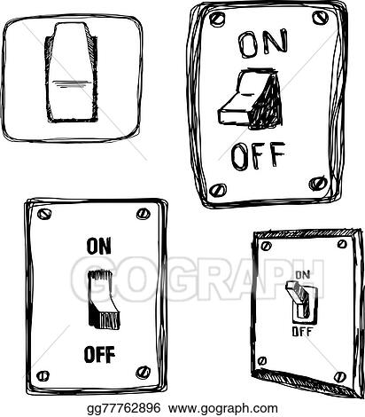 Doodles Single Wall Light Switch