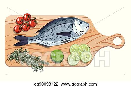 Vector Art Dorado Ingredients And Spices For Cooking Fish