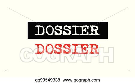 Vector Illustration - Dossier rubber stamp badge with
