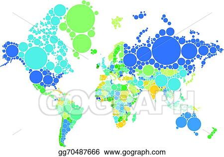 Vector illustration dot world map with countries eps clipart dot world map with countries gumiabroncs Images