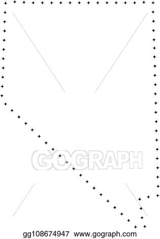 Vector Art Dotted Stroke Nevada State Map Clipart Drawing Gg108674947 Gograph