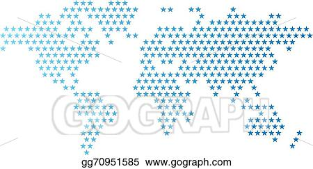 Clip art vector dotted world map made of star shape stock eps dotted world map made of star shape gumiabroncs Image collections