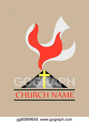 Vector art dove fire holy spirit church clipart drawing dove fire holy spirit church altavistaventures Choice Image