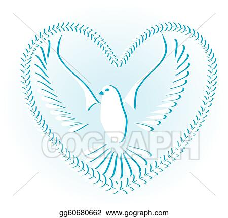 Vector Illustration Dove Symbol Of Peace And Freedom Stock Clip