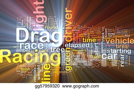 Stock Illustration Drag Racing Concept Diagram Glowing Clipart