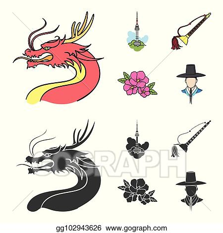 4bfed63f297 Vector Stock - Dragon with mustache