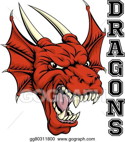 Vector Clipart Dragons Mascot Vector Illustration Gg80311800 Gograph