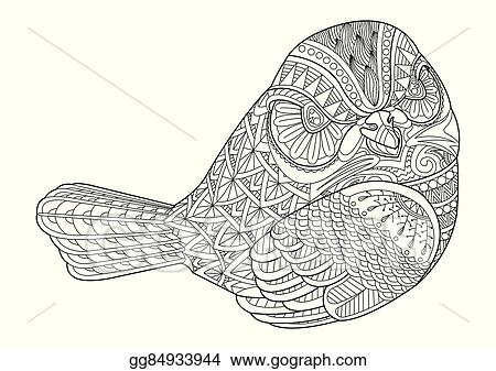 Drawing Bird For Coloring Page