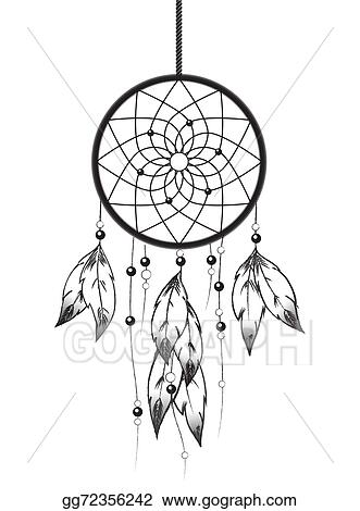 Vector illustration dreamcatcher stock clip art for Dream catcher graphic