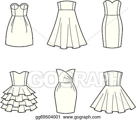 Vector Clipart Dress Vector Illustration Gg69504001 Gograph