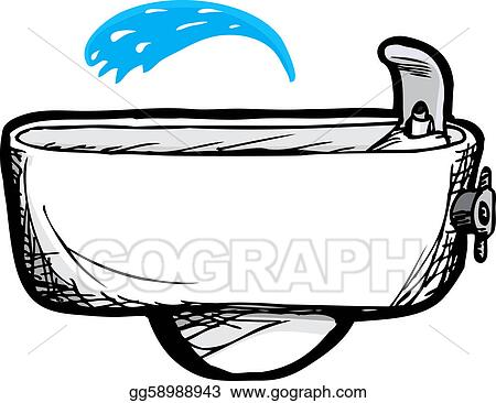 vector stock drinking fountain clipart illustration gg58988943 rh gograph com fountain clip art black and white clipart fountain pen