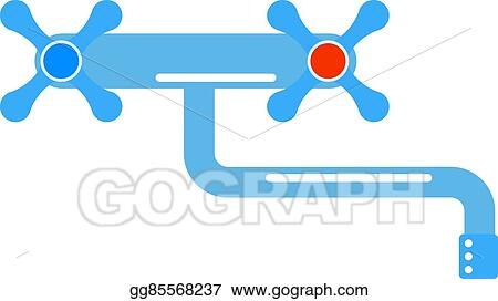 Vector Illustration - Dripping tap drop water faucet vector ...