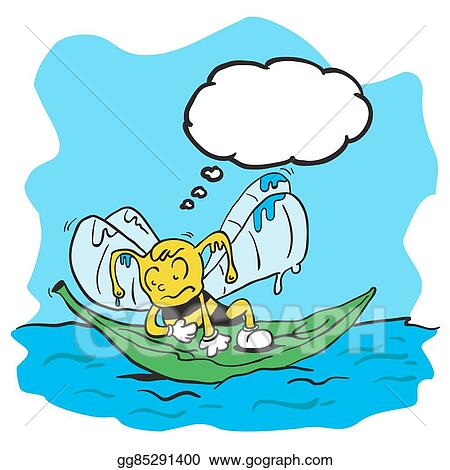 vector stock drowning bee with thought bubble clipart rh gograph com clipart drowning man drowning clipart free