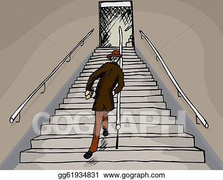 vector art drunken man on stairs eps clipart gg61934831 gograph gograph