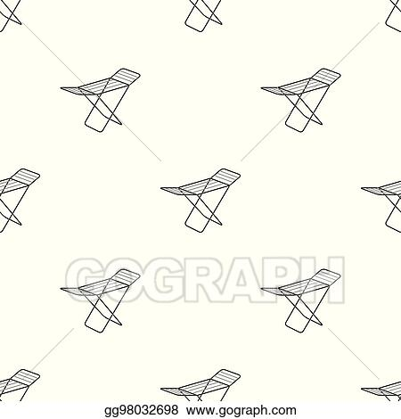 Clip Art Vector Drying For Clean Linen Dry Cleaning Single Icon