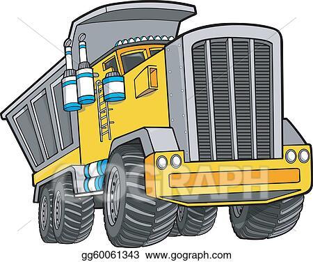 Dump Truck Vector Illustration Art