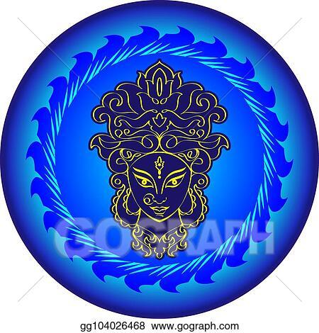 EPS Illustration - Durga goddess of power  Vector Clipart