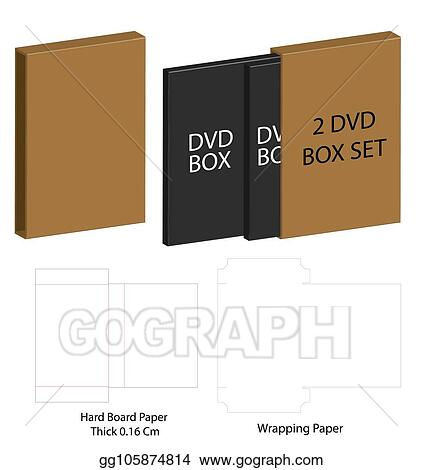 Vector Illustration Dvd Paper Packaging Box Die Cut Line Template Stock Clip Art Gg105874814 Gograph