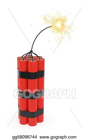 stock illustration dynamite with burning wick clipart rh gograph com dynamite clipart gif napoleon dynamite clipart