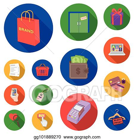 Vector clipart e commerce purchase and sale flat icons in set e commerce purchase and sale flat icons in set collection for design trade and finance vector symbol stock web illustration altavistaventures Images
