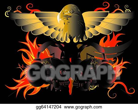 9198c9c03ff98 Stock Illustration - Eagle and fire. Clipart Drawing gg64147204 ...