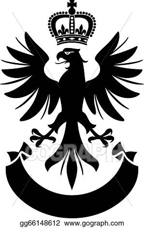 Vector Stock - Eagle coat of arms design  Clipart
