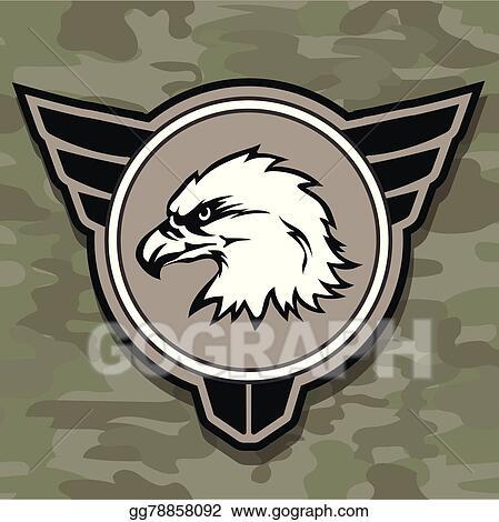 Vector Illustration Eagle Head Logo Emblem Template Mascot Symbol