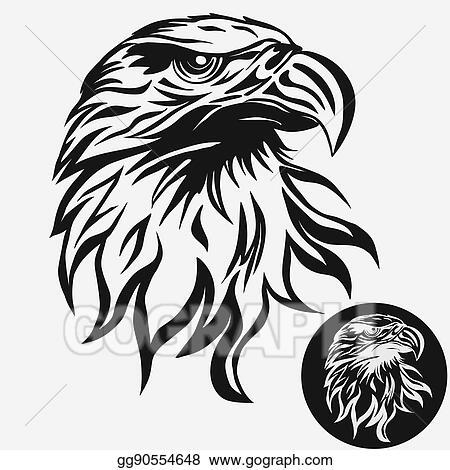 Vector Art Eagle Head Logo Vector Clipart Drawing Gg90554648 Gograph