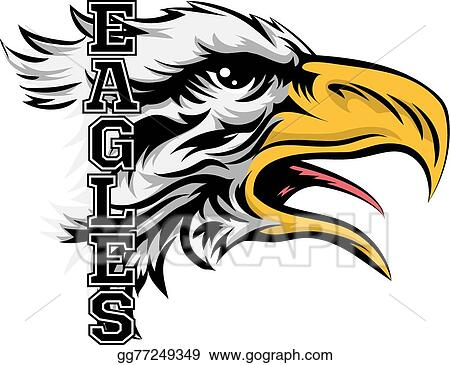 vector clipart eagles mascot vector illustration gg77249349 gograph rh gograph com Eagle Mascot Logo Eagle Mascot Football