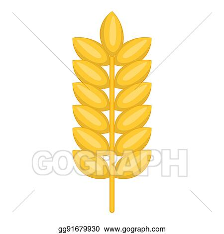 Drawing Ear Of Wheat Icon Cartoon Style Clipart Drawing
