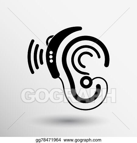 Vector Clipart Ear Vector Icon Hearing Aid Ear Listen Sound