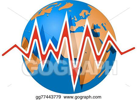 vector art earth and earthquake lines richter magnitude scale rh gograph com earthquake clipart black and white earthquake clipart png