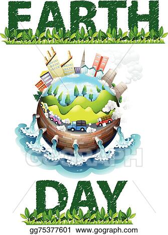 Vector Art Earth Day Theme Clipart Drawing Gg75377601 Gograph