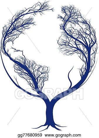 Vector Art Earth Tree Clipart Drawing Gg77680959 Gograph