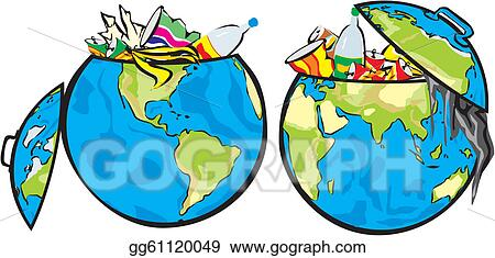 vector stock earth s dumpster clipart illustration gg61120049 rh gograph com Fence Clip Art Low-Income Housing Projects