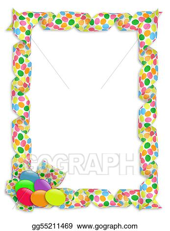 Easter Border Ribbons And Candy