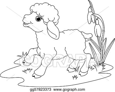 EPS Vector - easter lamb. coloring page. Stock Clipart Illustration ...