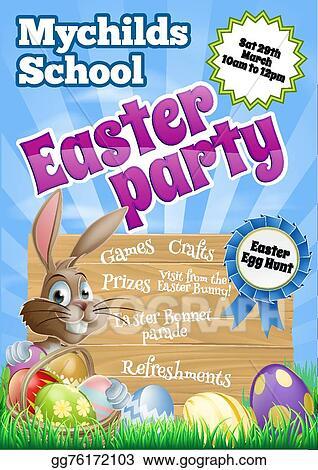clip art vector easter party flier stock eps gg76172103 gograph