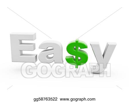 Drawing Easy Green Dollar Sign Clipart Drawing Gg58763522 Gograph