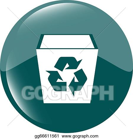 Stock Illustration Eco Recycle Bin Icon On A White Background