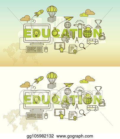 Vector Clipart Education Banner Background Design Concept Vector Illustration Gg105982132 Gograph
