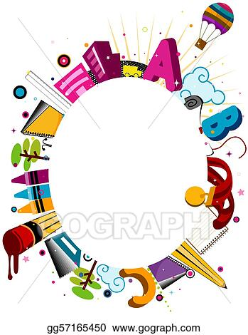 Drawings - Education frame. Stock Illustration gg57165450 - GoGraph
