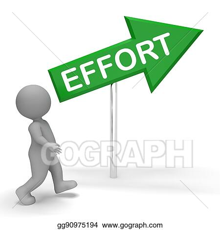 clip art effort sign shows hard work 3d rendering stock rh gograph com hard work pays off clipart hard day at work clipart