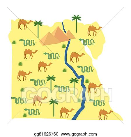 Worksheet. Vector Art  Egypt map characters and attractions of egypt