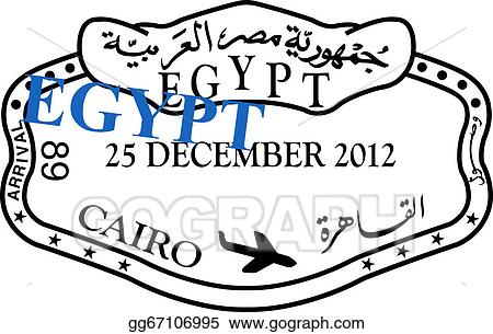 stock illustration egypt passport visa stamp clipart gg67106995 rh gograph com france passport stamp clipart country passport stamps clipart