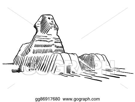 39b8b79e60224 Vector Art - Egypt sphinx monument cairo sketched. EPS clipart ...