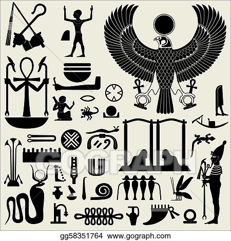 Vector Stock Egyptian Symbols And Signs Set 2 Stock Clip Art
