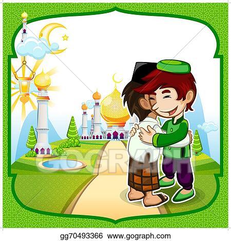 Vector clipart eid mubarak greeting card vector illustration eid mubarak greeting card m4hsunfo